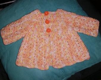 Handmade Newborn 3 Button Sweater