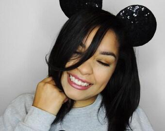 Sequin Mickey Ears - Mickey Ears - Sequin Ears - Mickey Mouse Ears - Ready To Ship - Disney World Ears - Disneyland Ears - Disney Style