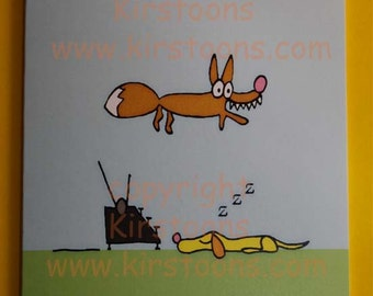 Quick Brown Fox Been Meaning to Write Card