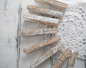 Chippy patiné vêtements épingles chalet mariage chic décor rustique altéré vêtements patères patinées photo cintre fabriquées à la main - 8 count