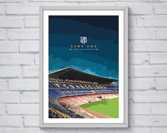 Barcelona Camp Nou / Printable / Wall Art / Poster / Decor