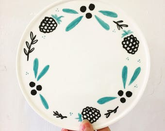 Winterberry - Illustrated by Bethany Thompson - Handmade porcelain/parian decorative planter