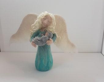 OOAK Needle felted angel with Child