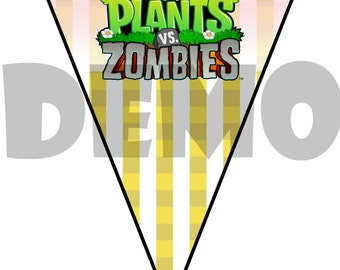 Plants Vs. Zombies Birthday Banner