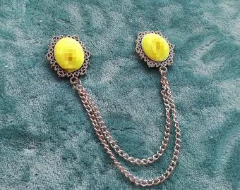Vagina Chest Chain Neon Yellow Alien