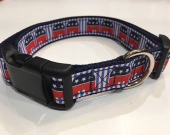 Republican Dog Collar/Leash