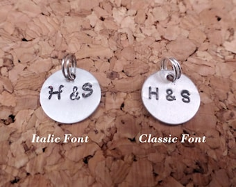 FREE Shipping - Add On: Couple Initial Pendant - Customized Charms for Necklace , Keychain or Bracelet - Gift - Jewelry