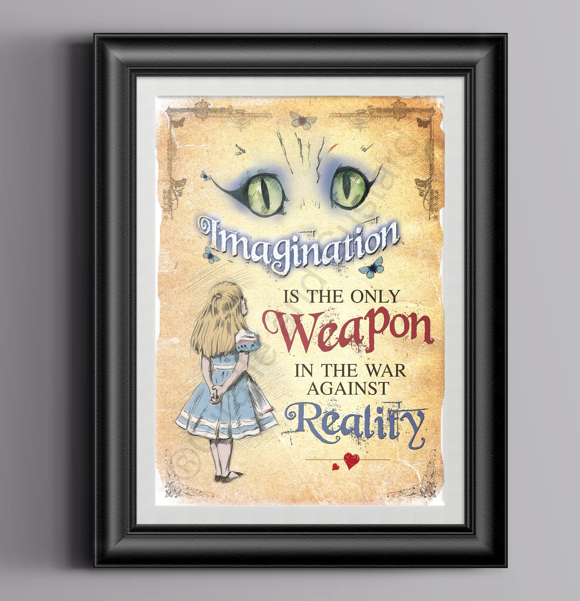 Alice in Wonderland Instant Download Wall Art A4 Printable