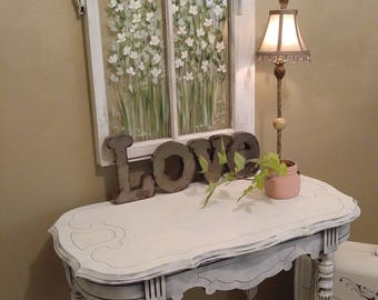 Occasional Table,Old Painted Table,shabby Chic Decor,painted  Furniture,white,