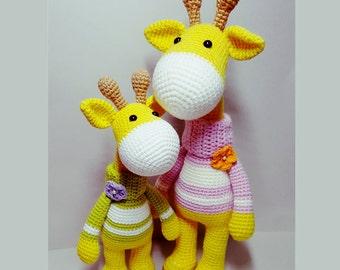 crochet pattern amigurumi Giraffe