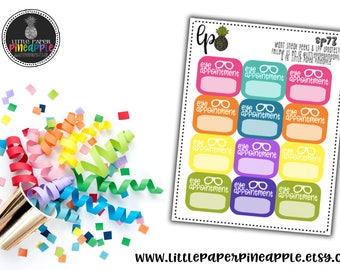 EYE DOCTOR Appointment Planner Stickers // Repositionable Matte Stickers   SP73