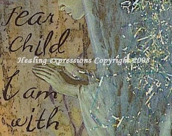 DO NOT FEAR altered art collage therapy recovery faith ACEO ATC PRINT