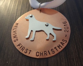 Dog First Christmas tree Ornament - Dog Christmas - Personalized Ornament - Pet ornament