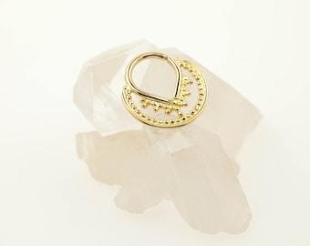 14k solid gold septum ring