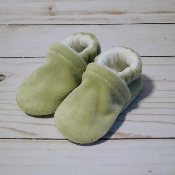 Sage Green: Soft Sole Baby Shoes 0-3M