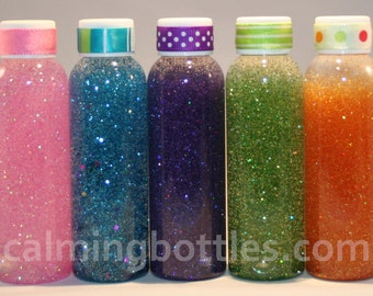 Travel-Sized Mini Calming or Time Out Bottles - 2oz