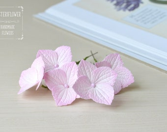 Set hair pins Pink hydrangea Hair pins Bride flower for hair Wedding hair accessories Flower hair piece Bridal hair flower Small flowers