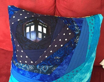 Quilted Doctor Who Pillow