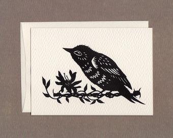 Bird on a Wire - Notecard