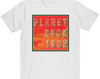 Men's Planet Rock 1982 Hip Hop Music Tribute T-shirt