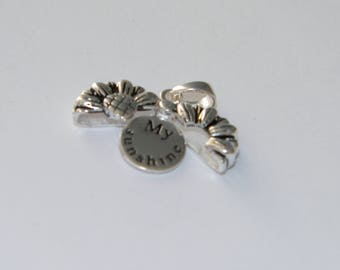 New My Sunshine Sunflower Pendant 925 Sterling Silver Open To Reveal Message