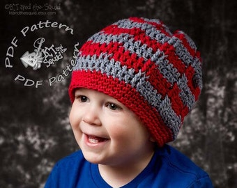 Striped slouchy crochet pattern, permission to sell, crochet pattern, easy crochet pattern, striped crochet hat pattern, slouchy pattern