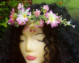 Petite Pink Flower Crown