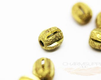 20 pcs Stardust Gold Caged Filler beads