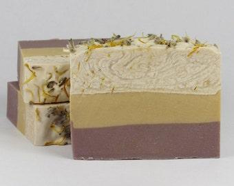 Goat Milk Soap - Lemon Lavender Soap - Shea Butter Soap - Homemade Soap - Handmade - Gifts for Mom - Gift for Her