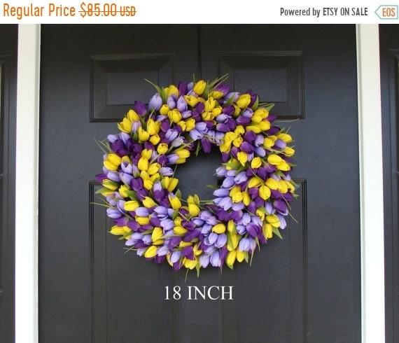 SUMMER WREATH SALE Spring Wreath- Front Door Wreath- Lavender Wreath- Spring Wreath for Door- Summer Wreath