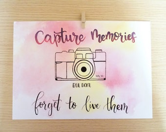 Capture film-decoration-photo camera-live in time-Life style