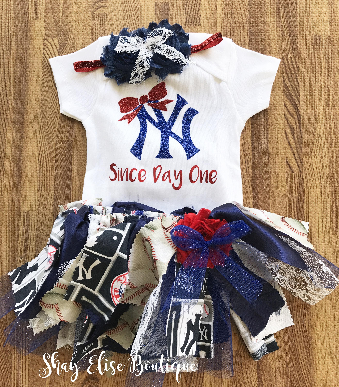 New York Yankees esie Headband and Tutu Outfit Set