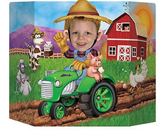 Johnny Tractor Theme Photo Prop; John Deere Tractor Theme Photo Prop; Little Farmer Theme; Birthday Photo Booth; Daddy's Little Deere; photo