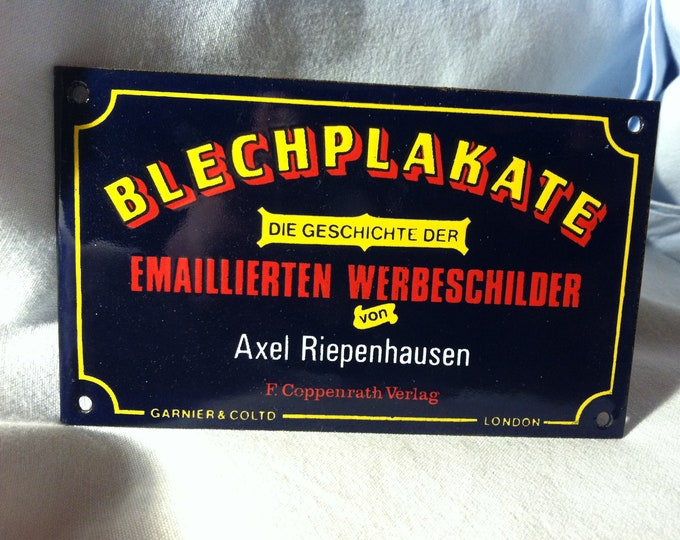 Vintage Enamel Old advertising Shield