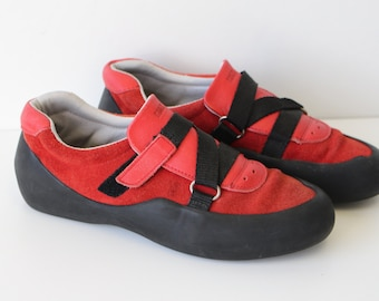 Red Walking Shoes Streetwear Gum Sole Shoes  Brand  ROOTS Red Suede Sneakers  Red  Hipster  Shoes  37 EU/6 US