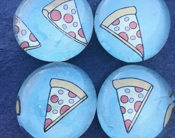 Pizza Slice Magnets - Pizza Lover Gift - Fun Magnets - Kitchen Magents - Food Magnets - Pizza Locker Decor - Pizza Office Decor