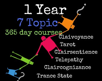 1 Year 365 day 7 topic course~Tailor created Private Lessons~Clairsentient Clairvoyant Medium Tarot