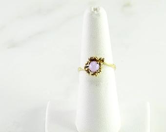 10K Lavender Star Sapphire Ring Size 7