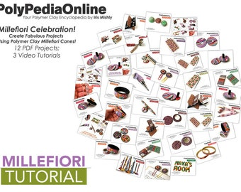 Polymer Clay Tutorial, Polymer Clay Cane, Millefiori Canes, Polymer Clay Jewelry, DIY Handmade Beads, Polymer Clay Beads, Fimo Jewelry