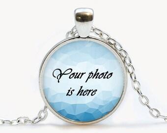 Custom Photo pendant. Personalized  Necklace. Design Your Own jewelry. Your Photo, personalized gift