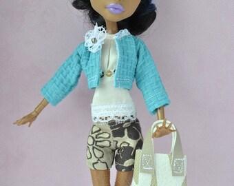 Handmade jacket and bag for Monster High dolls