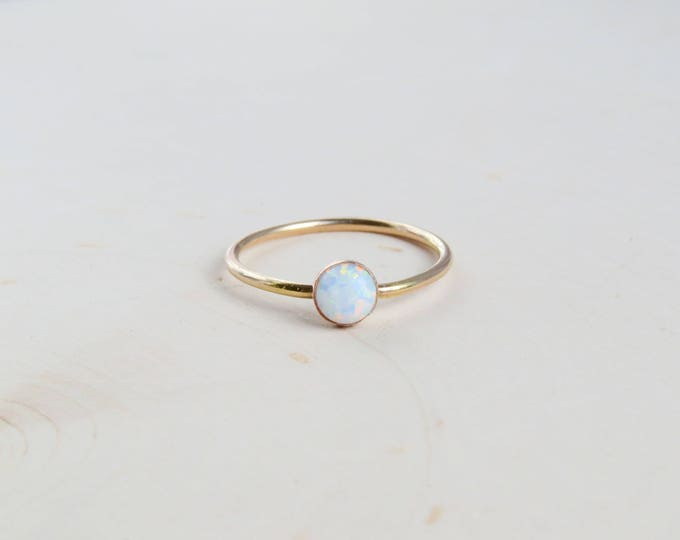 Featured listing image: White Opal Ring Gold