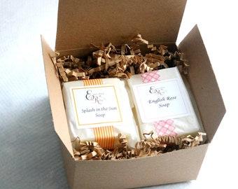 Summer Soap Sampler, Natural Soap Sampler, Homemade Soap,  Handmade Soap, Soap Box, Rustic soaps, Bridesmaid gift
