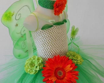 Tutu dress, fairy, fairy costume, green fairy costume with wings