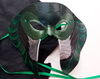 Leather Serpent Mask - Made to Order