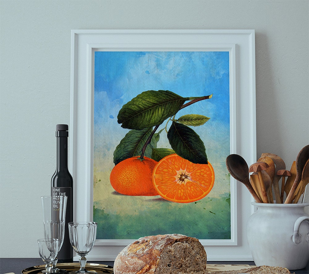 Kitchen Wall Art Oranges Print Kitchen Print Florida Food
