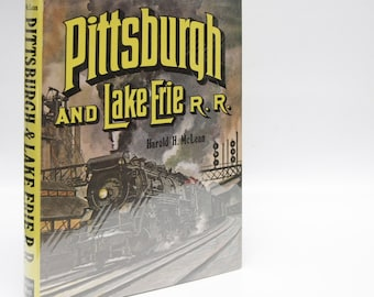 "Railway Book ""Pittsburgh & Lake Erie RR"" Hardcover Train Book (1980) Railroad History Pictures Black and White Photos Travel locomotive"
