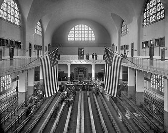 Inspection Room Ellis Island New York 1900 Photo