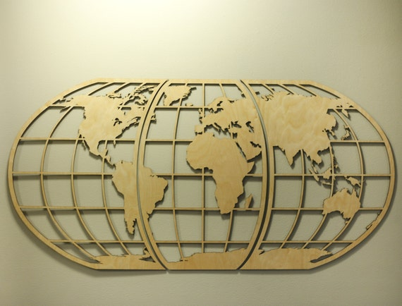 World map art huge wood globe wall hanging earth world map like this item gumiabroncs Images