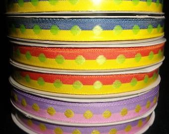 2 Color Stripe Polka Dot Ribbon